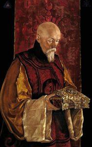 Nicholas Roerich nel ritratto dipinto dal figlio Svetoslav
