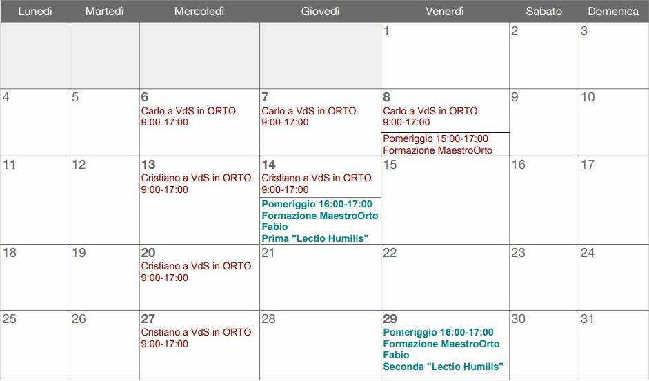 San Michele Data Calendario.Calendario Comunita Di Etica Vivente